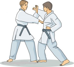 Karate Poses Clipart